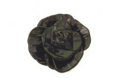 RS20 Подвеска большая Черная Роза муранское стекло