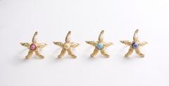 """art.258 Кольцо """"Морская звезда"""" с мурринами муранское стекло"""