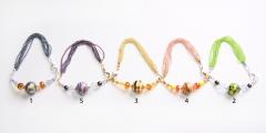 2012-24/maz Браслет бисер и бусины, 5 цветов муранское стекло