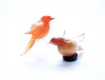 Nvg4 Фигурка Птичка красная с золотом на подставке