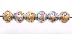 TR04 Сет 6 бусин 13х15 мм Scaglie(Скалье) муранское стекло
