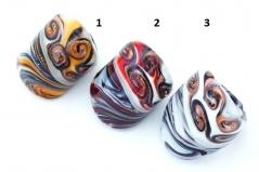 IV32-A Кольцо Divina 3 цвета муранское стекло