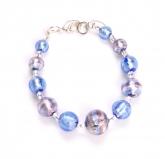 2012-46/maz Браслет цвет синий-аметист муранское стекло