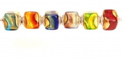 TR25 Набор из 6 бусин-кубиков Caravaggio муранское стекло