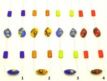 2013-11/maz Колье Аруба на цепочке 4 цвета муранское стекло