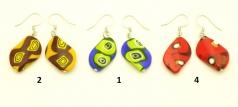2013-11/maz Серьги Аруба 3 цвета муранское стекло