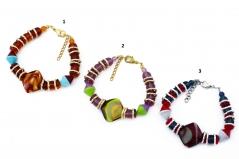 2013-2/maz Браслет Тимбукту 3 цвета муранское стекло