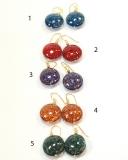 S1078/maz Серьги с авентурином 5 цветов муранское стекло