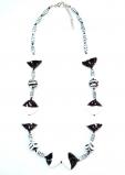 2014-59/maz Колье Черное, белое 60+5см муранское стекло