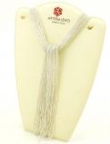 CN32 Бисер 36 нитей в форме шейного платка 105см цвет серебро