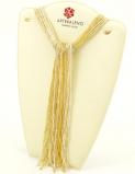 CN32 Бисер 36 нитей в форме шейного платка 105см цвет золото+серебро