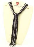 CN32 Бисер 36 нитей в форме шейного платка 105см цвет черно-серебристый