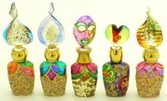 B01 (1) Флакончик Венецианский карнавал  h8-14см серия Винтаж муранское стекло