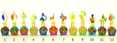 B01/M (6) Флакончик-миньон Аромат Востока  h6-8см серия Винтаж муранское стекло