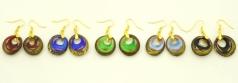 VB02-o Серьги с золотом  5 цветов муранское стекло