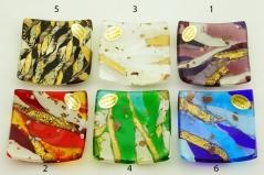ISV22 Блюдце декоративное 8х8см 6 цветов муранское стекло