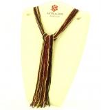 CN32 Бисер 36 нитей цвет черно-красно-золотой в форме шейного платка 105см