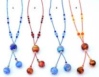 Vac/C502 Колье Спелые ягоды 4 цвета муранское стекло