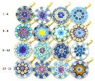 Mur1 Подвеска диам.2,3 см Классическая мозаика (3) муранское стекло