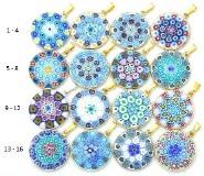 Mur1 Подвеска диам.2,3 см Классическая мозаика (5) муранское стекло