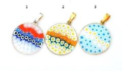 Mur1 Подвеска диам.2,3 см Цветущий луг (скидка 40%) муранское стекло