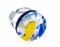 Арт.64 Кольцо круглое из муранского стекла