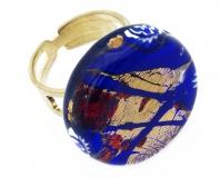 Арт.151 Кольцо круглое из муранского стекла