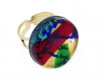 Арт.72 Кольцо круглое из муранского стекла