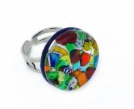 Арт.164 Кольцо круглое из муранского стекла