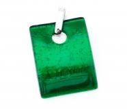 Арт. 02 зеленый - подвеска 3x4 см муранское стекло