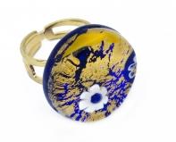 Арт.63 Кольцо круглое из муранского стекла