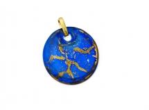 NV14 Подвеска Бонди' д.5 цвет сине-золотой муранское стекло