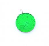 Арт. 02 зеленый - подвеска круглая 3,2 см муранское стекло