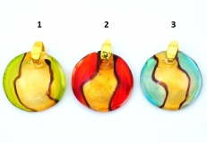 VC07 Подвеска двухцветная с золотом 3 цвета
