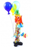 MD11 Клоун Скви с воздушными шариками и мороженым h28cm муранское стекло