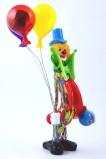 MD11 Клоун Лаки с воздушными шариками и новогодним шаром h28cm муранское стекло