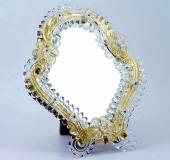 MD30 Венецианское настольное зеркало 24х21см муранское стекло