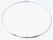 Ожерелье металлическое жесткое родированное цвет серебро