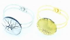 RS31 Браслет Грани цвет золото и серебро муранское стекло