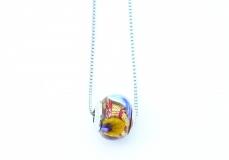 TR13/1** Кулон-бусина на цепочке муранское стекло