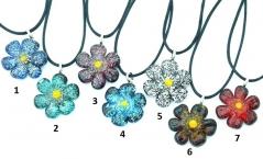 VB17 Подвеска Альпийский цветок (диам.3 см, длина 52 см) 7 цветов муранское стекло