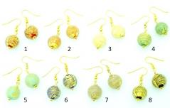 Vac/O14 oro rotto Серьги 8 цветов муранское стекло