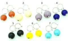 Vac/O Soffiato(3) Серьги дутые в форме шара моноколор муранское стекло