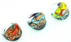 LV82 Кольцо Ретро 3 цвета муранское стекло