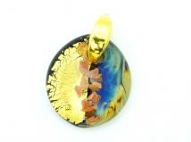 RD23 Подвеска Сорренто кальцедон+золото муранское стекло
