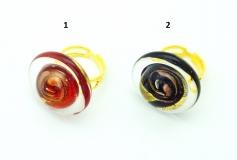 VC22 Кольцо Атолл диаметр 2,5см, цвет канта прозрачный муранское стекло