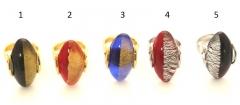 NV20 Кольцо Elite Да и нет 5 цветов муранское стекло