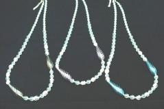 IC04 Колье Дольче Вита с 2 филигранными удлиненными бусинами 3 цвета 72+4 см муранское стекло