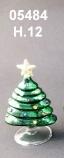 05484 Елка стеклянная цвет зеленый 12 см