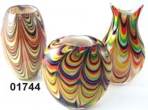 SM01744 Ваза стеклянная с финикийским узором 3 формы